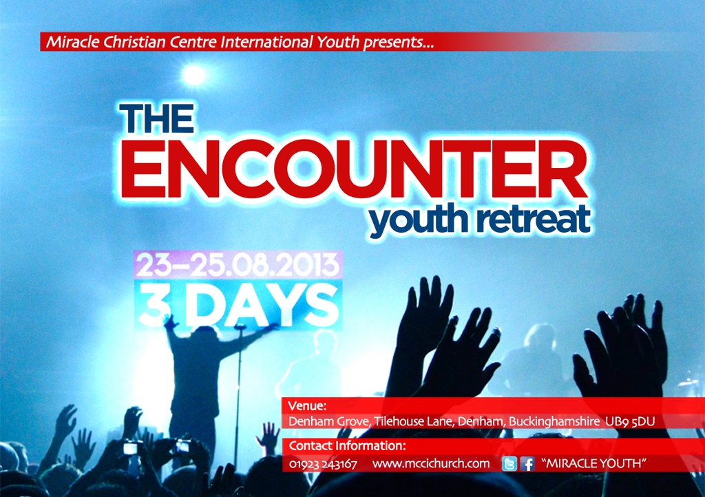 flyer for miracle youth retreat
